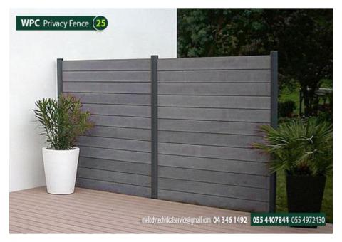 WPC Fence in Abu Dubai | WPC Privacy Fence Suppliers in Abu Dhabi | WPC Fence Khalifa City