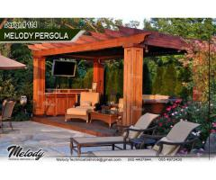 Wooden Pergola in Dubai | Pergola in Arabian Ranches | Seating Area Pergola Suppliers