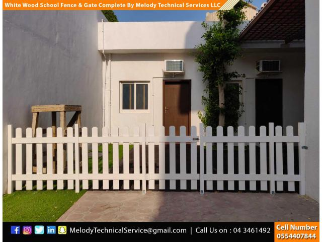 Wooden Fence Suppliers in Dubai | Picket Fence | Swimming Pool Fence | Kids Play Ground Fence