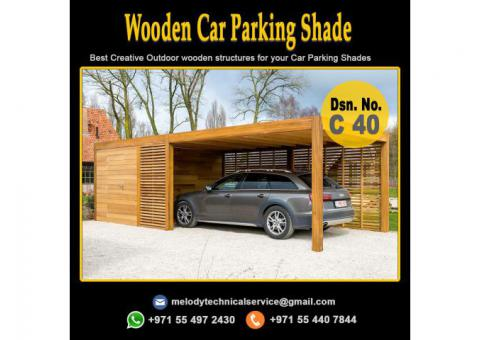 Wooden Car Parking Shade Suppliers in Abu Dhabi | Mashrabiya Car Parking in Abu Dhabi
