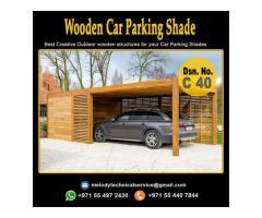 Wooden Car Parking Shade in Dubai | Mashrabiya Car Parking Suppliers | Steel Car Parking in UAE