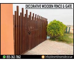 Wooden Fences Manufacturer in Abu Dhabi | Fences Contractor in UAE.