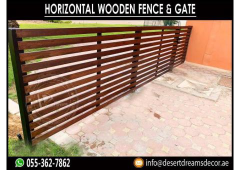 Wooden Slatted Panels in UAE | Privacy Slatted Fences Abu Dhabi.