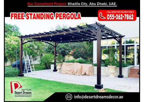 Wooden Swings Pergola in UAE | BBQ Pergola | Pergola Abu Dhabi.