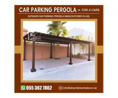 Wooden Car Parking Shades in UAE | Supply and Install Car Parking Pergola Abu Dhabi.