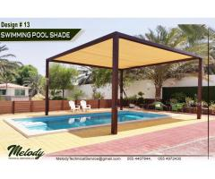 Swimming Pool Shade Suppliers in Dubai | Wooden Pergola in Dubai | Aluminium Pergola in Dubai