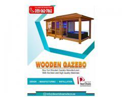 Seating Area Wooden Gazebo in Uae | Wooden Gazebo in Abu Dhabi.
