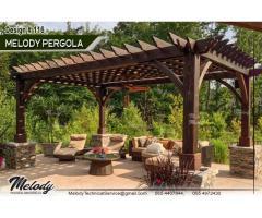 Pergola Manufacturer in Dubai | White Wood Pergola Suppliers | BBQ Pergola in Dubai