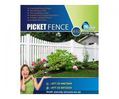 Fence | Fence Suppliers in Dubai | Picket Fence in UAE | Garden Fence Suppliers | Wooden Fence