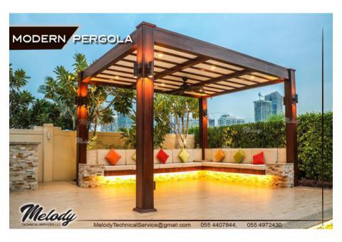 Luxury Pergola Suppliers | Modern Pergola in Abu Dhabi | Seating Area Pergola