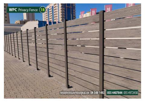 WPC Fence in Ajman | WPC Privacy Fence Suppliers | WPC Wall Mounted Fence in Ajman Uptown