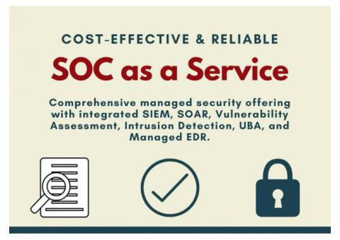 SOC As a Service Offering:- Clouds Dubai