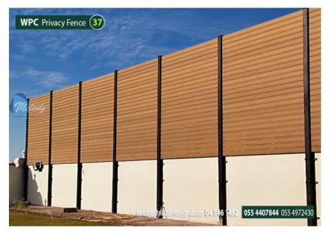 WPC Fence in Sharjah | WPC Wall Mounted Fence | WPC Privacy Fence Suppliers