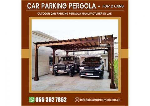 Car Parking Wooden Shades | Car Parking Wooden Pergola Abu Dhabi.