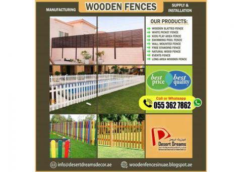 Wooden Slatted Fences | Wall Boundary Fences | Outdoor Fences Abu Dhabi.