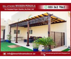 Modern Design Pergola | Wooden Pergola Abu Dhabi | Wooden Pergola Al Ain.