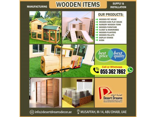 Kids Play Wooden House in Abu Dhabi | Wooden Pet House | Kiosk and Display Stands.