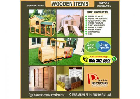 Wooden Pet House | Wooden House Kids Play Area | Nursery Wooden Furniture in Uae.