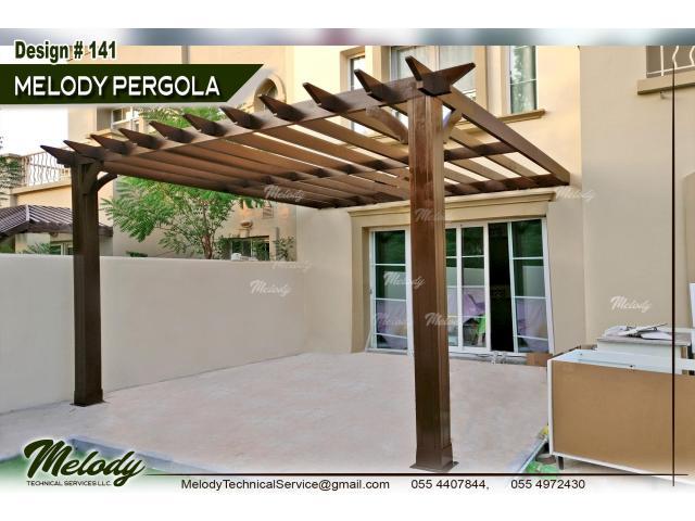 Wooden Pergola Arabian ranches   Pergola in Green community   Pergola Suppliers in Dubai