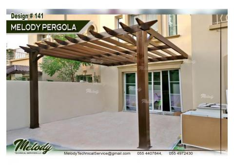 Wooden Pergola Arabian ranches | Pergola in Green community | Pergola Suppliers in Dubai