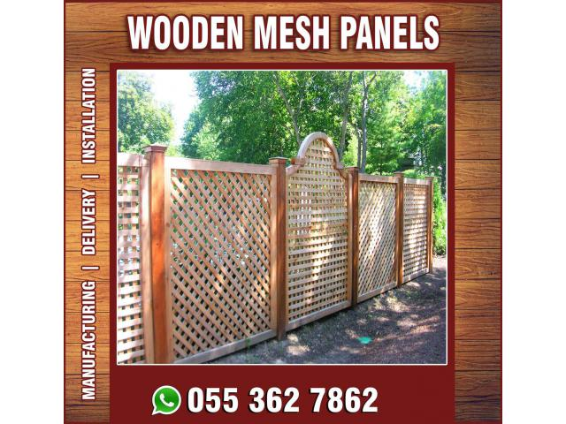 Vertical Wooden Fences in Uae | Horizontal Wooden Fences in Uae.