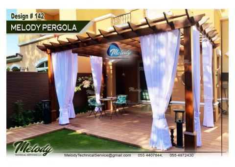Pergola in Garden Area | Pergola Suppliers in Abu Dhabi | Outdoor Pergola