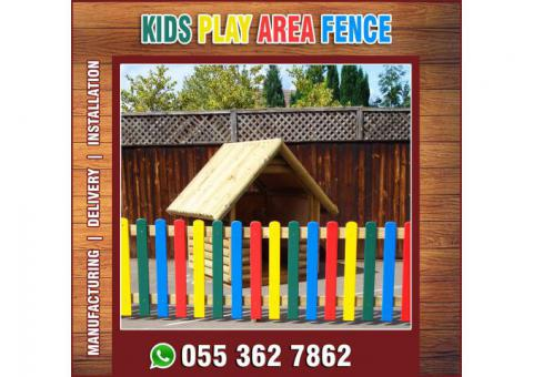 Professional Wooden Fencing Works in Uae | White Picket Fence | Wooden Slatted Fence.
