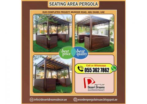 Professional Wooden Pergola Work in Abu Dhabi, Al Ain, UAE.