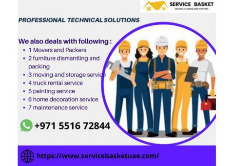 Service Basket UAE Movers and packers in Dubai | 0551672844