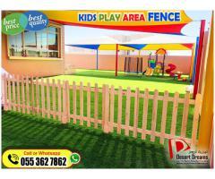 Kids Play Area Fences in Abu Dhabi | Garden Fence Installation in Uae.