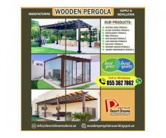 Seating Area Wooden Structures | Creative Design Pergola | Modern Design Pergola | Abu Dhabi.