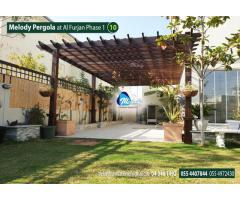 Wooden Pergola in Al Furjan | Pergola in Arabian Ranches | Pergola Suppliers in UAE