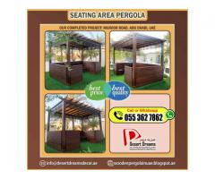 Walk-Way Area Pergola in Uae | Wooden Pergola Installation and Manufacturing.