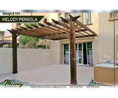 Pergola in Al Barari | Pergola Suppliers in Dubai | Wooden Pergola in Al Barsha Garden Area Pergola