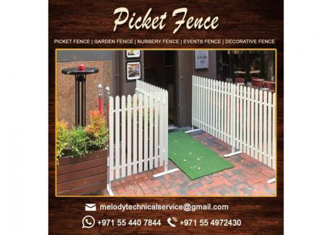 Wooden Fence in Dubai | WPC Fence Suppliers | Garden Fence | Picket Fence | Restaurant Fence in UAE