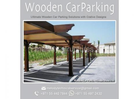 Wooden Car Parking in Dubai | Car Parking Shade Suppliers | Mashrabiya Car Parking in UAE