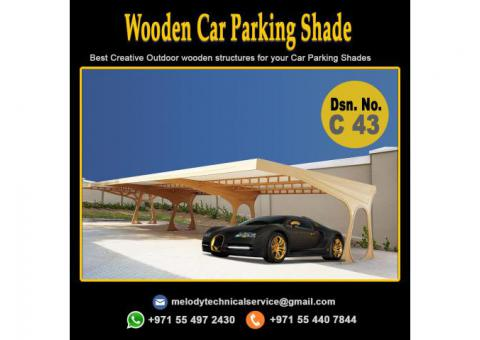 Wooden Car Parking in Abu Dhabi | Car Parking Shade Suppliers | Mashrabiya Car Parking in UAE