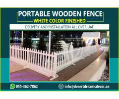 Restaurant Area Wooden Fences Uae | Seating Area Privacy Fence | Wooden Planters.