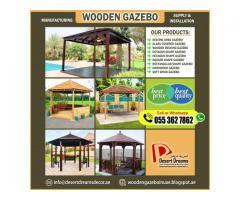Wooden Gazebo in Abu Dhabi | Creative Design Gazebo | Gazebo Polishing Works.