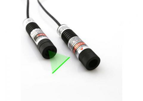 Wide Fan Angles 50mW Green Laser Line Generator