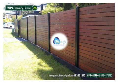 WPC Fencing Abu Dhabi | WPC Wall Mounted fence in Khaleefa City | WPC Garden fence Suppliers