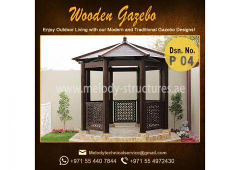 Gazebo Project in UAE | Wooden Gazebo Abu Dhabi | Outdoor Gazebo Manufacturer