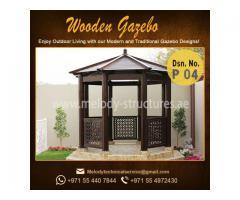 Gazebo Project in UAE   Wooden Gazebo Abu Dhabi   Outdoor Gazebo Manufacturer