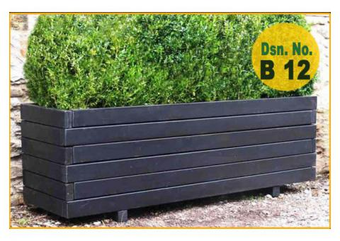 Planter Box Manufacturer | Wooden Planter Box Suppliers with Artificial Plants