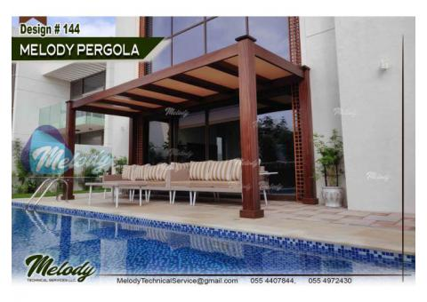 Swimming Pool Pergola | BBQ Pergola Suppliers | Backyard Pergola in UAE