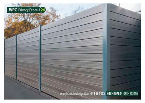WPC Fencing in Garden | WPC Fence Home in Dubai | WPC Outdoor Fence UAE