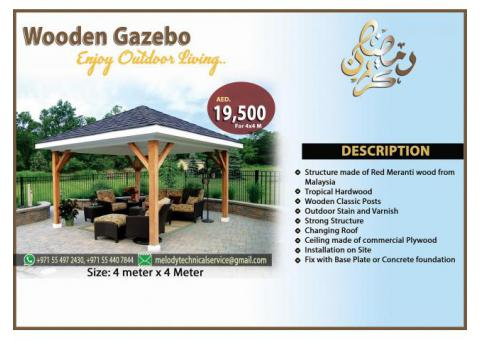 Wooden Gazebo Installation UAE | Gazebo Suppliers in Dubai | Gazebo Creative Design