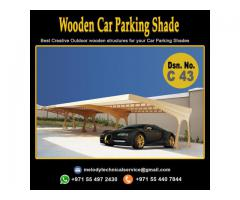 Wooden Car Parking Shade in Arabian Ranches | Car Parking Pergola Maydan City UAE
