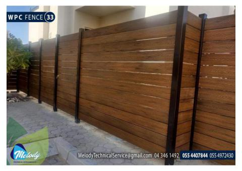 WPC Fence in Sharjah | Wooden Fence in Sharjah | Privacy Fence in Sharjah