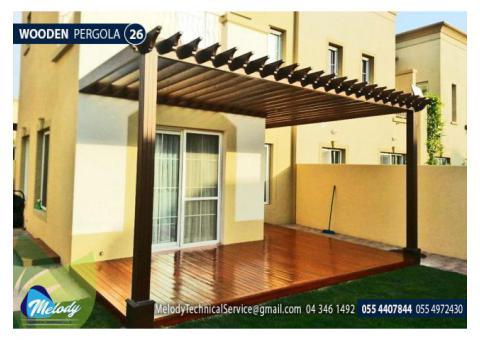 Wooden Pergola in Abu Dhabi | Pergola in Musaffah | Pergola Suppliers in UAE